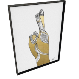 Sign Language X by KelliEllis - 30''x40'', Black