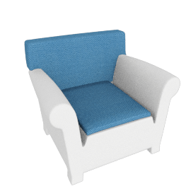 "Kartell Bubble Club Armchair 1"" Sunbrella Seat Cushion"