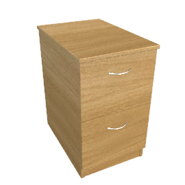 Modus Filing Cabinet, 2 Drawer, Oak