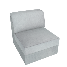 Lourini Armless Sofa, Grey