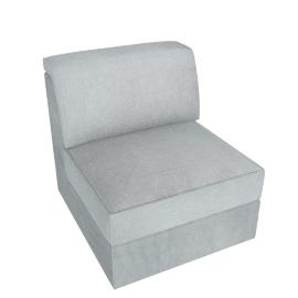 Lourini Armless Sofa, Grey