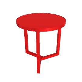 Lima Side Table, Scarlet Red