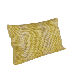 Maharam Pillow in Wool Striae 11'' x 21'', Saffron