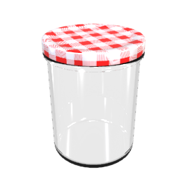 Tala Jar with Gingham Lid