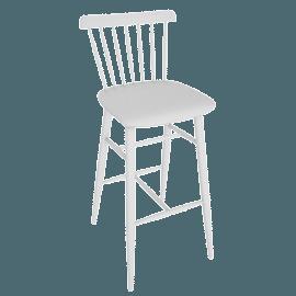 Salt Barstool, White