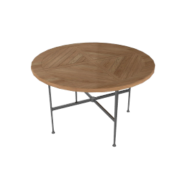 Silver Dining Table - Round