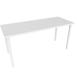 "Everywhere Rectangular Table 24"" x 60"", White Leg White Finish"
