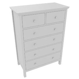 Wilton 6 Drawer Chest, White