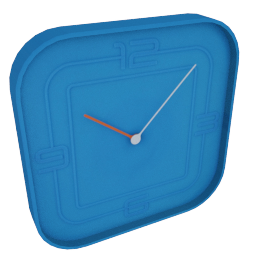 Ben Wall Clock, Blue