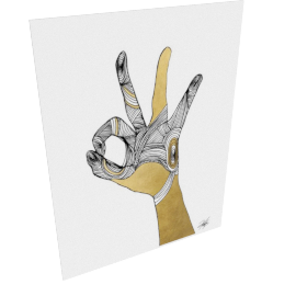Sign Language II by KelliEllis - 54''x72'', Gallery wrap