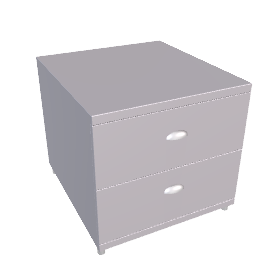 Atlas Narrow 2 Drawer Dresser