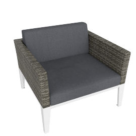 Evening Breeze Arm Chair, Grey/White