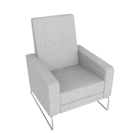 Flight Recliner, Soft Weave Fabric, Smoke w/ Stainless Steel