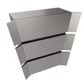 Professional JLBIHD908 Chimney Cooker Hood, Stainless Steel
