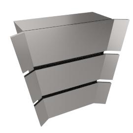 Professional JLBIHD908 Chimney Cooker Hood, Stainless Steel