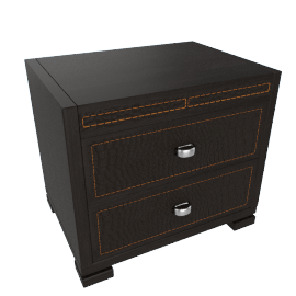 Croco Textured 2-Drawer Night Stand