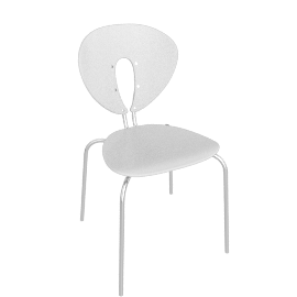 Globus Chair - Plastic/Chrome - Shiny.White