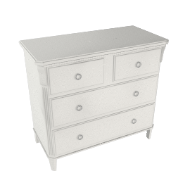 Louisa 4 Drawer Chest, Soft White