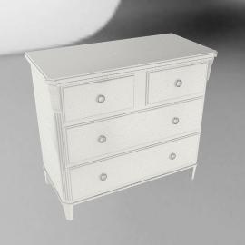Louisa 4 Drawer Chest, Soft White