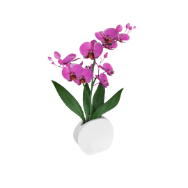 Cheska Vase with Orchid - 36x21x54 cms