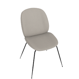 Beetle Side Chair, Stone