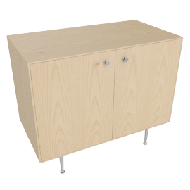 Nelson Thin Edge Cabinet, Ash