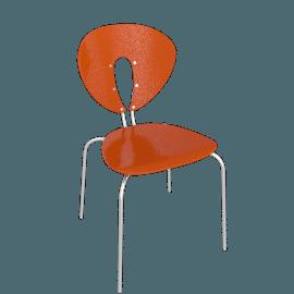 Globus Chair - Plastic/Chrome - Shiny.Orange