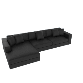 Reid Sectional with Chaise, Right Ultrasuede