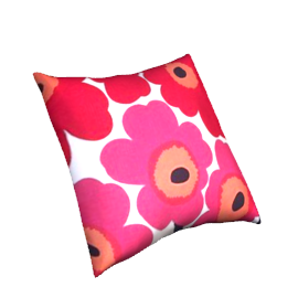 Marimekko Pieni Unikko Cushion, Red