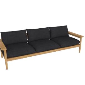 Terassi Three-Seater Sofa, Char