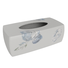 Carolina Rose Tissue Box