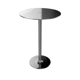 John Lewis Pearl Round Bar TableClear Glass