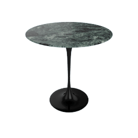 Saarinen Side Table - Coated Marble 2 - Blk.VerdeAlpi