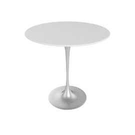 Saarinen Side Table - Laminate - Platinum.White
