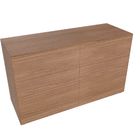 Lauki Low Dresser, Walnut