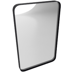 Adnet Rectangular Mirror, medium, black