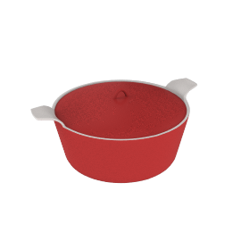 Ceramic Oven To Tableware Round Casserole, Red Lacquer