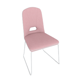 Arlo Dining Chair, Pink/White