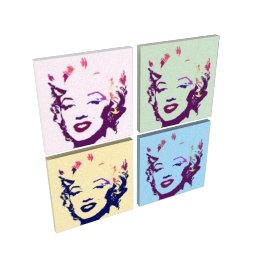 Marilyn Combo set of 4, 40x40cm, by Catherine Dupont