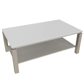 Parlin Coffee Table, Wht/Gry