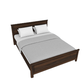 Optec Queen Size Bed - 155x210 cms