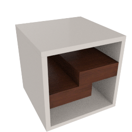 Cruze End Table, HG Cream/Wlnt