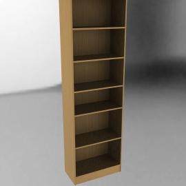 Laya Tall Narrow Bookcase, Beech