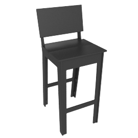 Fresh Air Barstool, Slate
