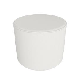 Gemini Round Pouffe, Vanilla