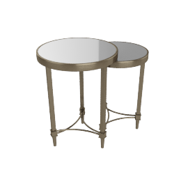 Veneto Nest of Table, Antique Brass