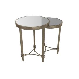 Veneto Nest of Table, Antique Brass