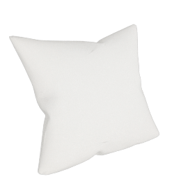 Linen Cushion, White