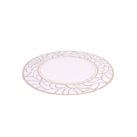 Minerva Placemats, Cream / Gold, Dia.33cm