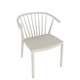 Woody Armchair, Ivory
